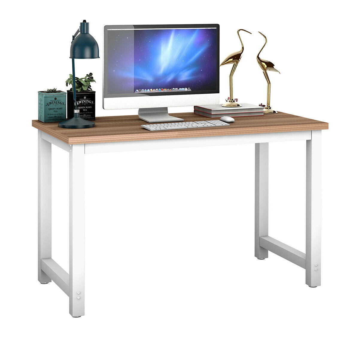 Giantex Wood Computer Desk PC Laptop Table Study Workstation Home Office Furniture New HW53853