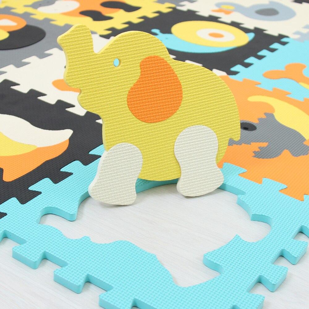 Mqiaoham Modèle Animal de Bande Dessinée Tapis En Mousse EVA Puzzle Tapis Enfants Énigmes de sol Tapis de Jeu Pour Enfants Bébé Jouer Gym Ramper tapis - 2