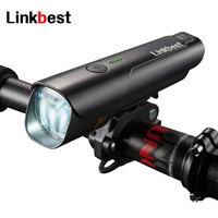 Linkbest 600 Lumens USB Rechargeable Bike Light , Near Range Beam ,Side light Waterproof Safety Bicycle Light Fits ALL Bikes
