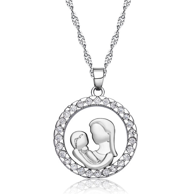 36 pcslot fashion mother and baby necklaces pendants rhodium 36 pcslot fashion mother and baby necklaces pendants rhodium plated motherhood mozeypictures Gallery