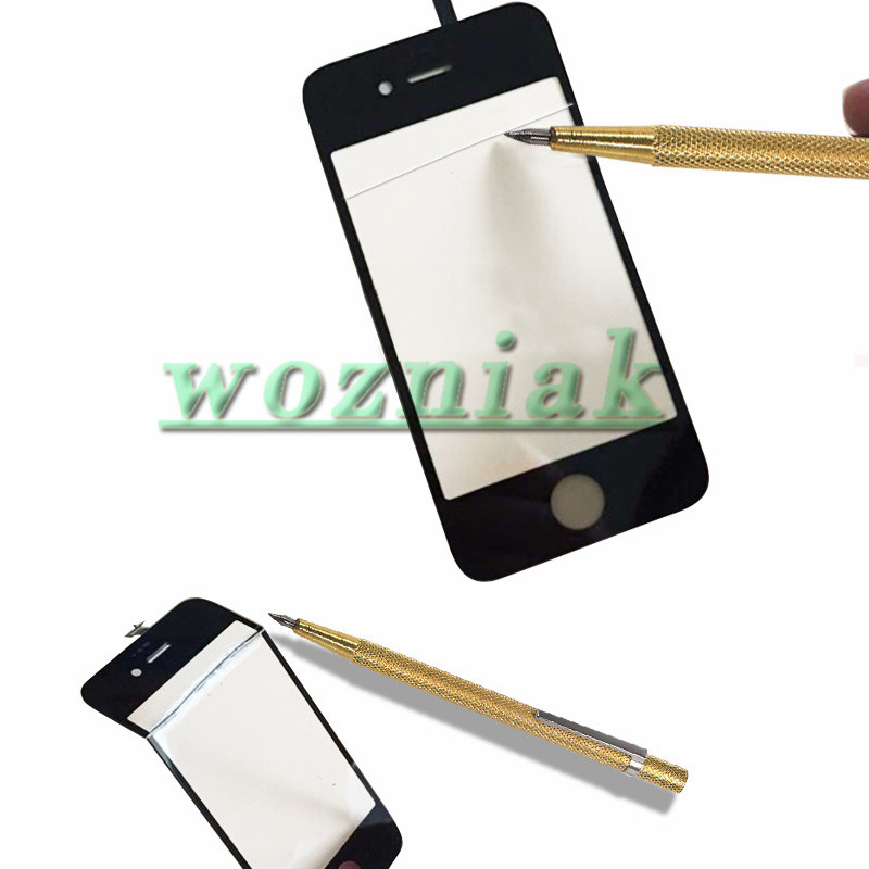 Professional Glass Cutting Pen with Non Slip Metal Handle for Mobile Phone Tablet Screen Glass Cutter Repair Tool