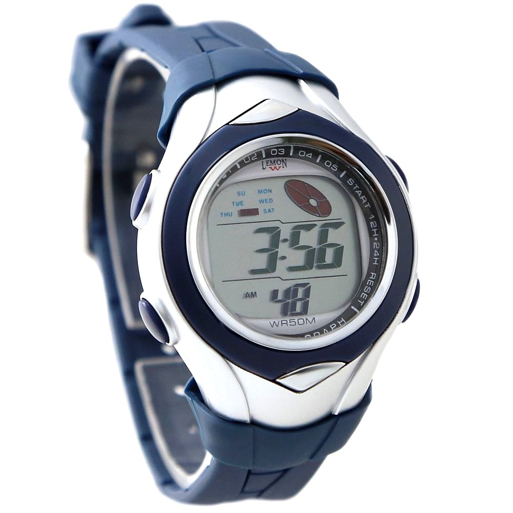 Sunmer Swimming Best Choice Kid s Sporty Casual New DW045F Chronograph Date Dark Blue Bezel Digital
