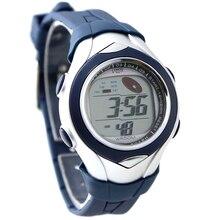 Sunmer Piscina Mejor Opción del Cabrito Casual Deportivo Nuevo Cronógrafo Fecha DW045F Oscuro Azul Bisel Reloj Digital