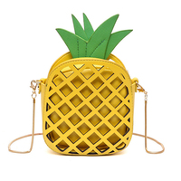 2017 leather cute handbag for women lovely pineapple girl messenger bag with chain hollow out pu.jpg 200x200