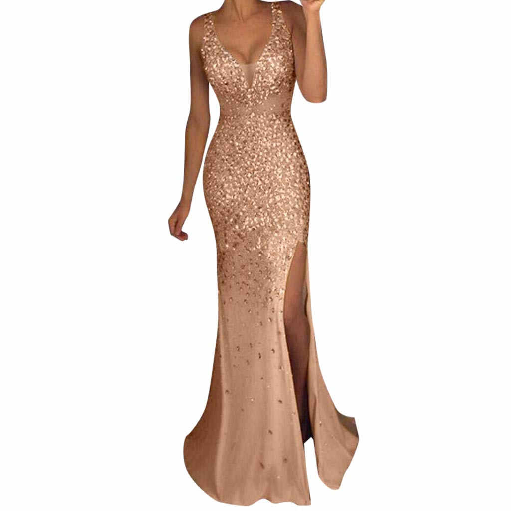 02ed07007fb2b Detail Feedback Questions about Women Sequin Prom Party Ball Gown ...