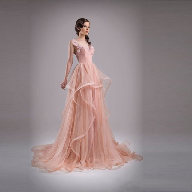 2015 New Arrival Spring Long Prom Gowns Chic Backless Elegant Prom ...