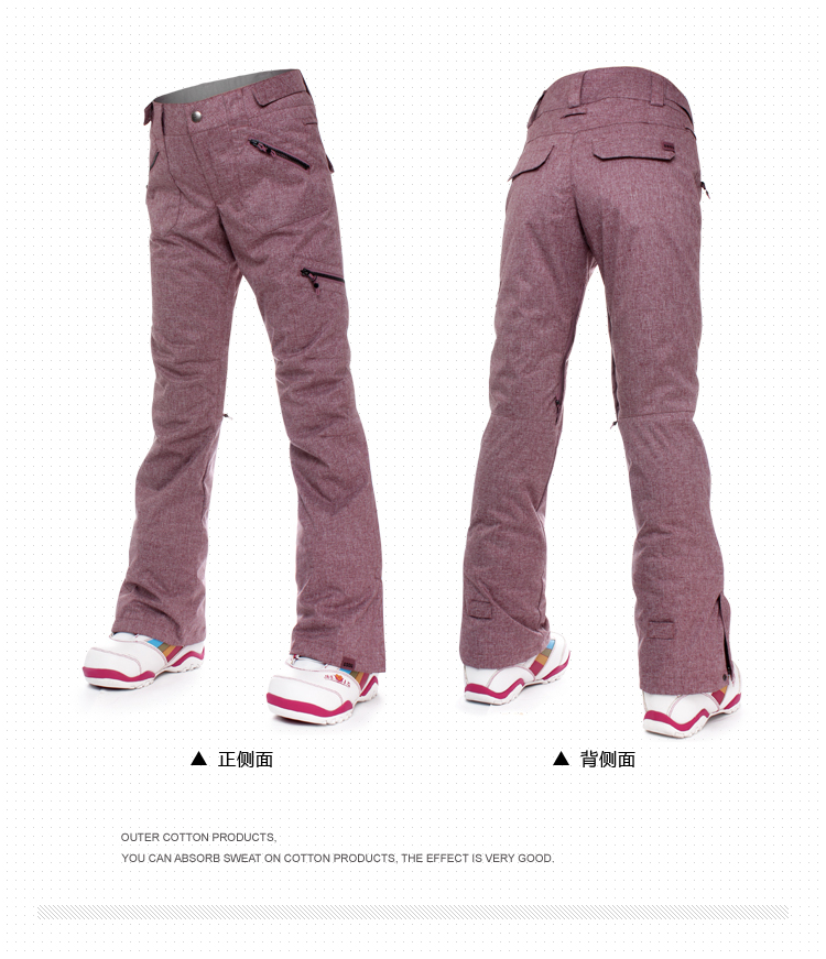 Gsousnow Women Skiing Pants Snowboard Pants Woman Breathable Waterproof Windproof Top Quality Winter Warm Trousers For Lady 1420 ...