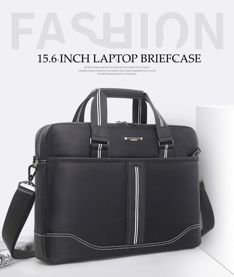 HTB1Jb.CaRGE3KVjSZFhq6AkaFXaZ Business Oxford Men Briefcase 15.6 inch Laptop Handbags Men's Office Bags Multifunction Messenger BagComputer Work Bag