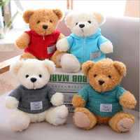 New Style Teddy Bear Wearing Clothe Plush Toy Stuffed Animal Plush Doll Creative Gift Send to Children
