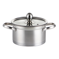 1600ml Small Hot Pot one person one Cooker Household mini soup pot Induction Casserole hotpot Kitchen Pot Stainless Steel Pot