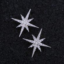 Di nuovo Modo di Star delicati Orecchini cubic zirconia Orecchini Con Perno Per le donne boucle d' oreille femme 2020 серьги звезды