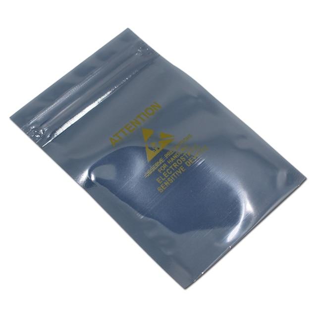 200pcs Lot Multi Sizes Zip Lock Self Seal Anti Static Bag With Printed Logo Esd