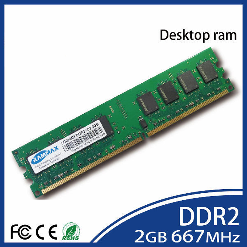Desktop Memory <font><b>Ram</b></font> 1GB 2GB 4GB <font><b>DDR2</b></font> LO-DIMM <font><b>667Mhz</b></font> PC2-5300 240-pin/CL5/1.8v high compatibility with PC AMD/Intel motherboards image