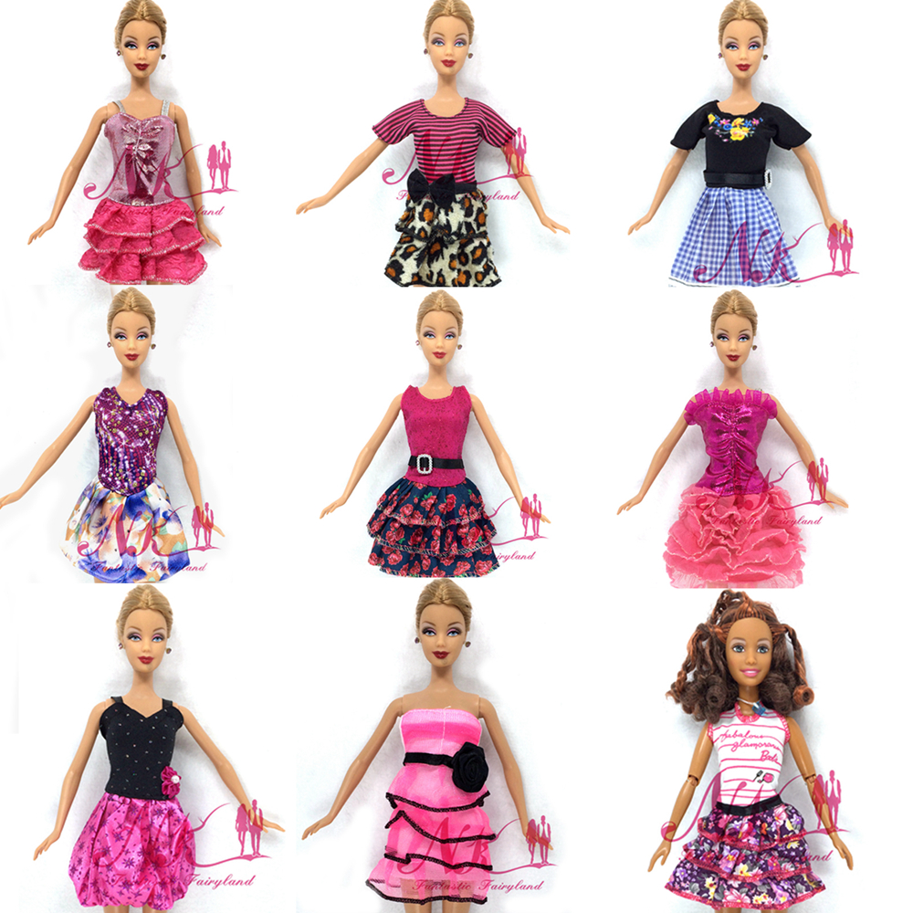 NK Randomly One Set Latest Doll Gown Lovely Occasion Garments High Style Gown For Barbie Noble Doll 2016 Finest Women' Present zero01G