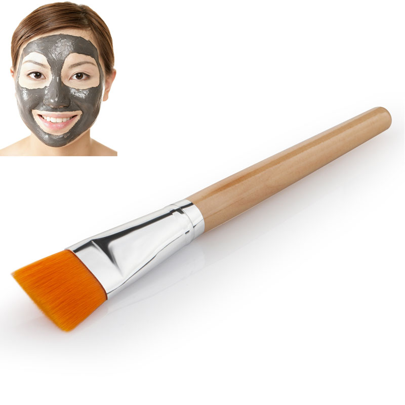 Pro Handle Face Facial Skin Care Mud Masks Soft Applicator Mixing DIY Brush New