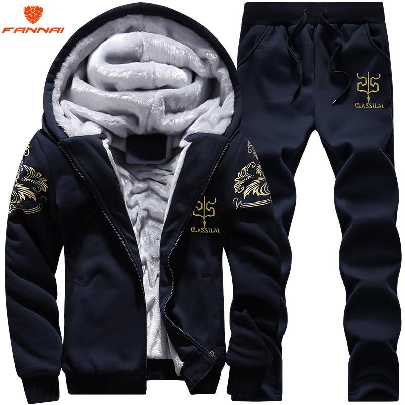 Men's Large Size M-9XL New Men's  Sets Autumn Sports Suit Sweatshirt + Track Pants Clothing For Men 2 Pieces Sets Slim Outerwear