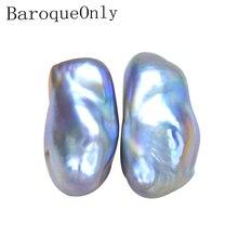 BaroqueOnly 10 20 มม.ทำความสะอาดพื้นผิวไม่สม่ำเสมอ baroque pearl ลูกปัดธรรมชาติน้ำจืดมุกสีม่วงสำหรับ diy เครื่องประดับ macking BCT