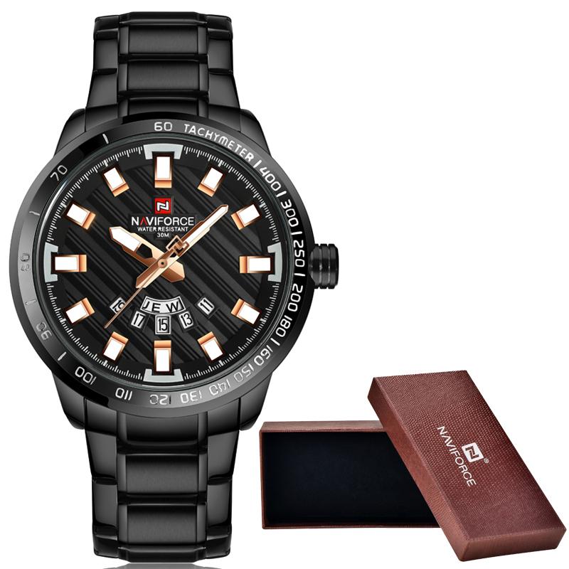 Prix pour NAVIFORCE Montres Hommes Marque De Luxe En Acier Plein Armée Militaire de Sport Montres Hommes Étanche Quartz Heure Horloge Homme Montre-Bracelet