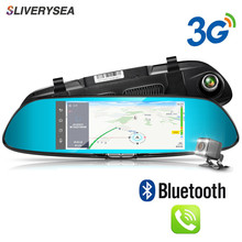 SLIVERYSEA 3G 7 Car DVR GPS Navigation WiFi Android Full HD 1080P Car Camera Dual Lens Parking Rearview Mirror Camera Video цена