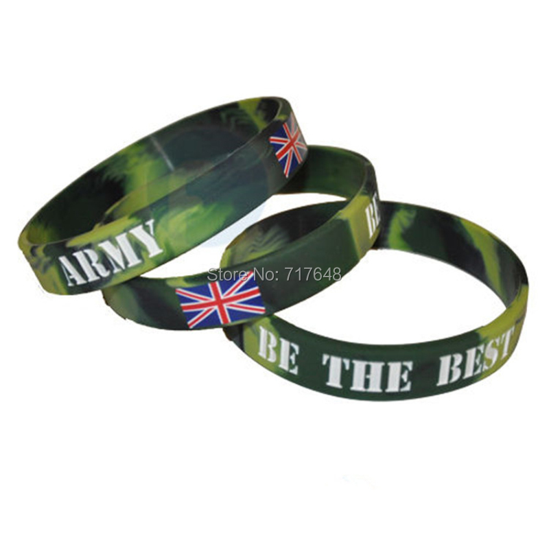 Online 300pcs Army Be The Best Wristband Silicone Bracelets Free Shipping By Fedex Aliexpress Mobile
