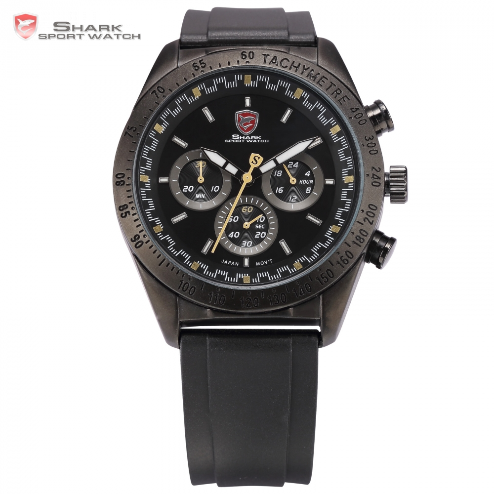 SHARK Sport Watch Luxury Brand Men 6 Hands Auto Date Display Relojes Men's Military Wristwatch Gift Male Quartz Watch / SH273 shark sport watch brand men auto date