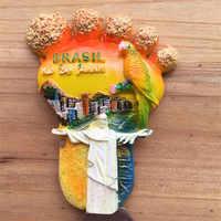 Lychee Life Brazil Rio de Janeiro Olympics Refrigerator Sticker Foot Shaped Fridge Magnet Home Decoration Travel Souvenir