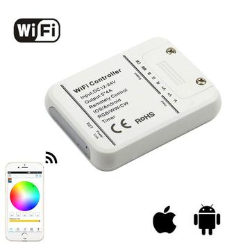 Draadloze IOS Android Dimbare mini WIFI Remote 5 Kanaals Controller DC 12-24 V Voor RGB/RGBW LED strip Licht Lamp LD686