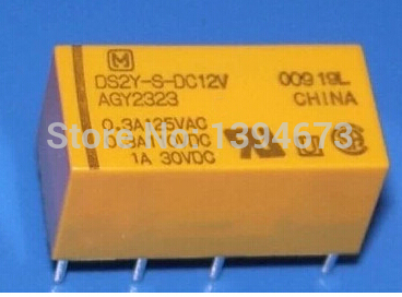 10PCS 12V 8pins DS2Y-S-DC12V DS2Y-S-12V AGY2323 1A Panasonic Relay