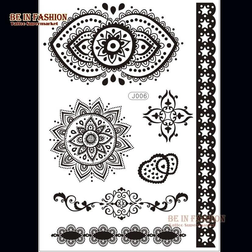 Buy 1sheet arabic indian henna tattoo for Henna tattoos locations