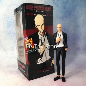 One Punch Man Suit Saitama PVC Figure Collectible Model Toy Retial Box 19cm