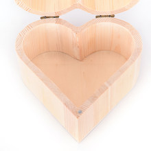 HOT Portable Storage Boxes Heart Shape Wood Box Jewelry Box Hardware Wedding Gift Makeup Storage Bin Earrings Ring Organizer(China)