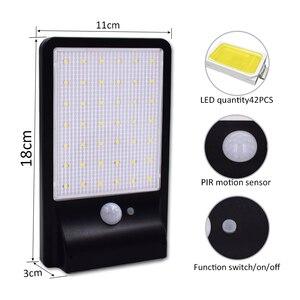 Image 2 - 500 Lumens חיצוני Led שמש אור 42 נוריות חיצוני חיישן תנועת שמש מנורת Waterproof אבטחת אורות גן קיר חצר