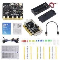 BBC Micro:bit Starter Kit Micro:bit Board + Acrylic Case + Switch Battery Holder Box + USB Data Power Cable + Breadboard + Wires