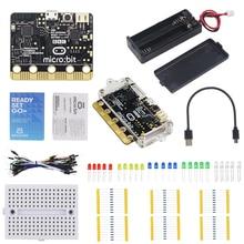 BBC Micro: bit Starter Kit Micro: bit Board + akrylowa skrzynka + przełącznik pojemnik na pudełko baterii + dane usb kabel zasilający + płyta chlebowa + przewody