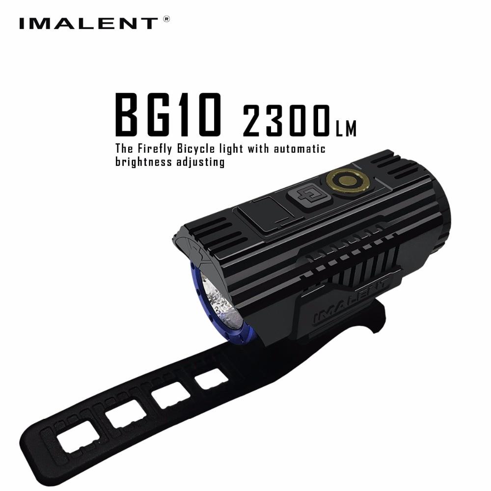 IMALENT BG10 светодио дный фонарик зарядка через usb свет велосипеда CREE XHP50 2300LM светодио дный S O светодио дный Экран Водонепроницаемый велосипедов ...