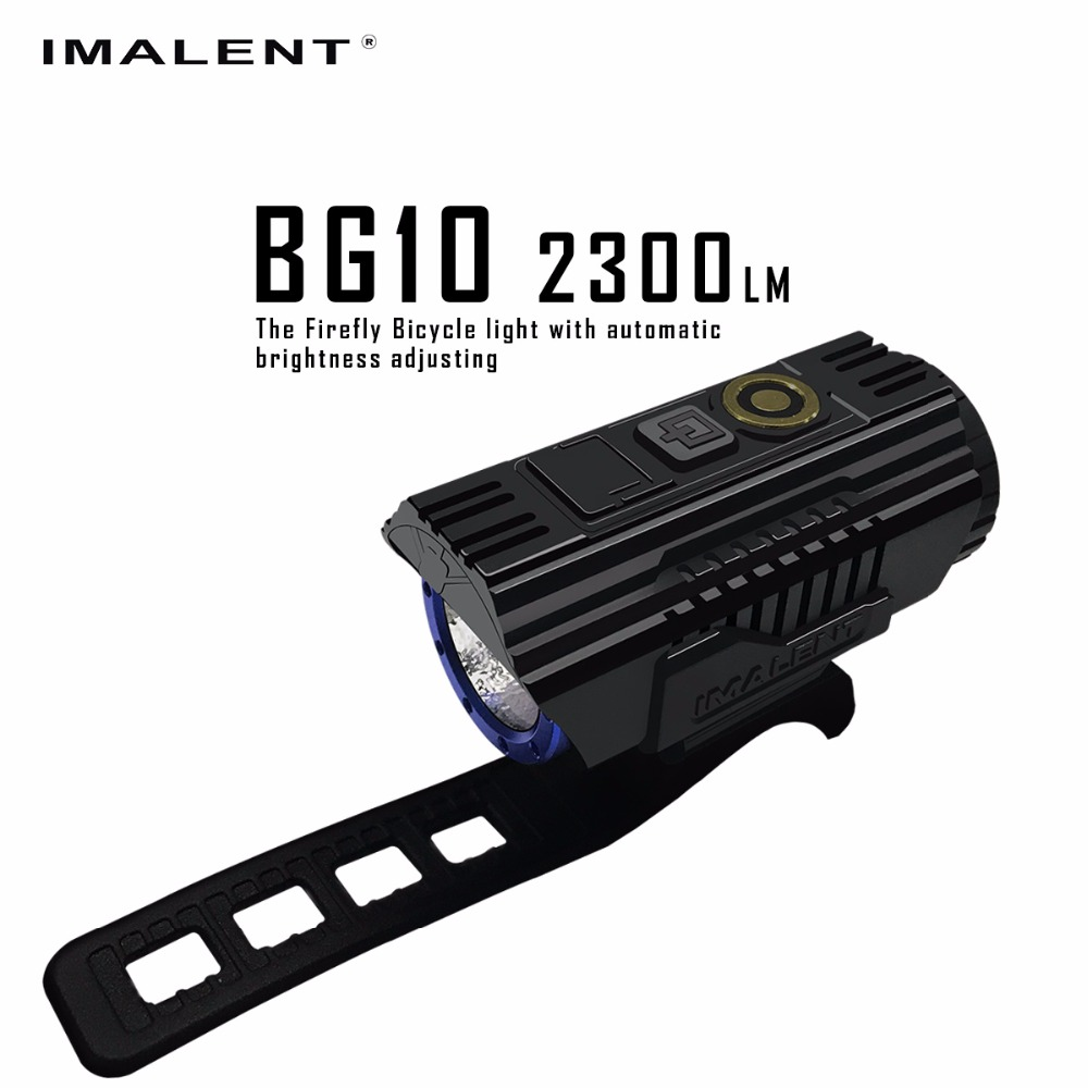 IMALENT BG10 LED Flashlight USB Charging Bike Light CREE XHP50 2300LM LEDS OLED Screen Waterproof Bicycle Light + 26350 Battery