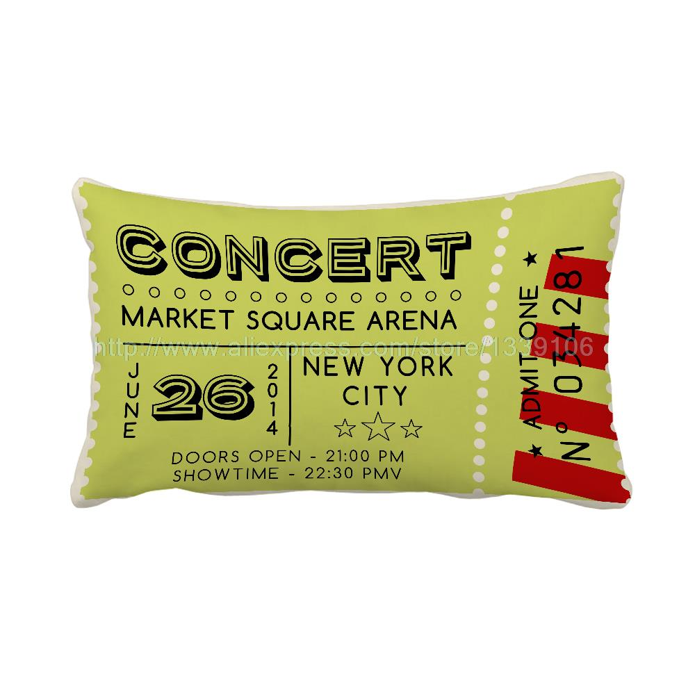 30x50cm Personalised New York City Concert Sofa Chair Back