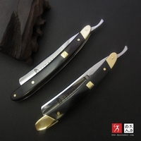 VG 10HZ Straight Razor Men Shaving Titan Navalha Wood Handle Barbeador Copper Manual Shaver Classic Scraper
