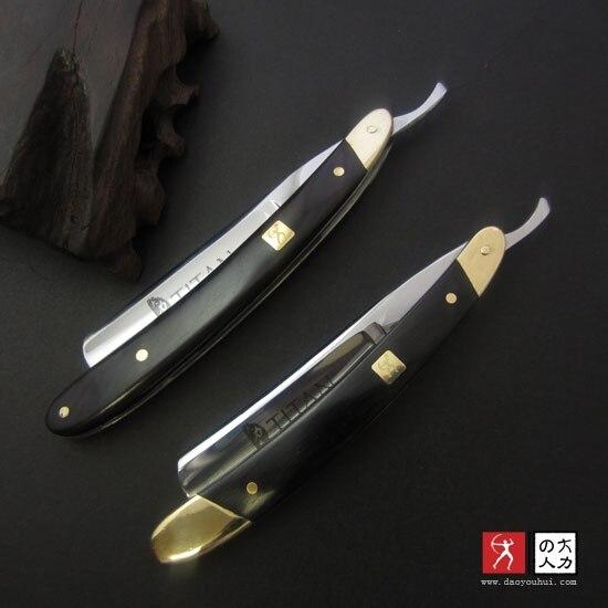VG-10HZ <font><b>Straight</b></font> <font><b>Razor</b></font> <font><b>Men</b></font> <font><b>Shaving</b></font> <font><b>Titan</b></font> Navalha Wood Handle Barbeador Copper Manual Shaver Classic Scraper