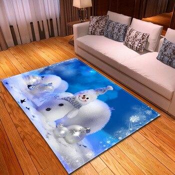 Alfombra 3D con estampado navideño, tapete moderno Para el hogar, Sala de...