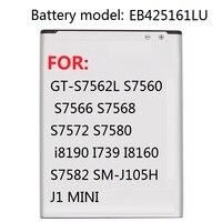Battery EB425161LU For Samsung GT S7562L S7560 S7566 S7568 S7572 S7580 i8190 I739 I8160 S7582 SM J105H J1 MINI|Mobile Phone Batteries| |  -