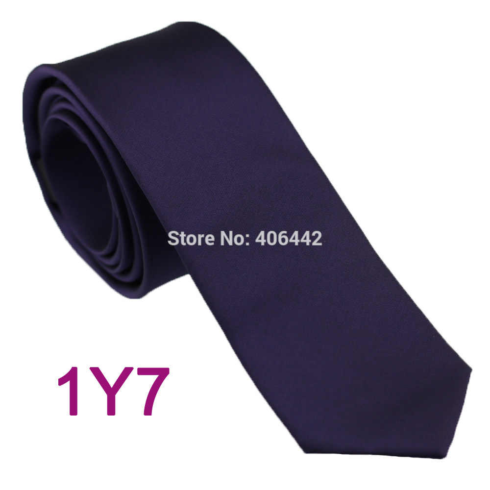 HUBUNGAN YIBEI Coachella SLIM Dark Purple Microfiber dasi Kain Sempit gravata corbatas KURUS Warna Solid neck tie wedding dress