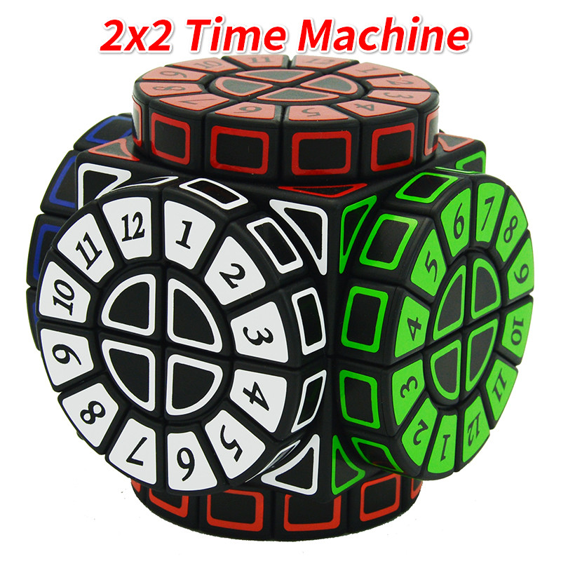 2x2 Time Machine Cube Stickers Speed Magic Cube Puzzle Limited Version Shape of Wheels of Wisdom