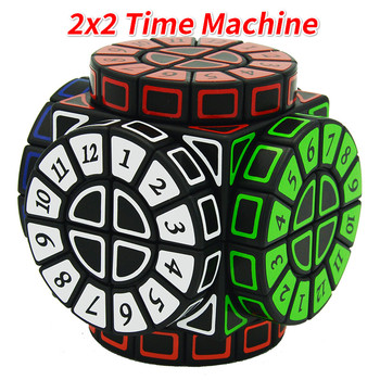 2x2 Time Machine Cube Stickers Speed Magic Cube Puzzle Limited Version Shape of Wheels of Wisdom Cubo Magico Learning