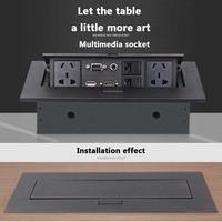 Universal Tabletop Hidden Socket HDMI High definition Multimedia Desktop Socket Pop up USB Socket Wall Socket AU/EU/US Standard