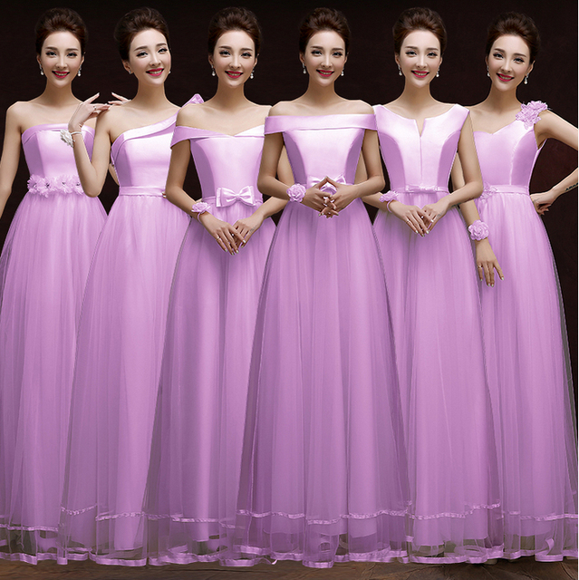 15e2fda52 De color morado claro chica batas de soiree longs palabra de longitud tul  lavanda vestido formal