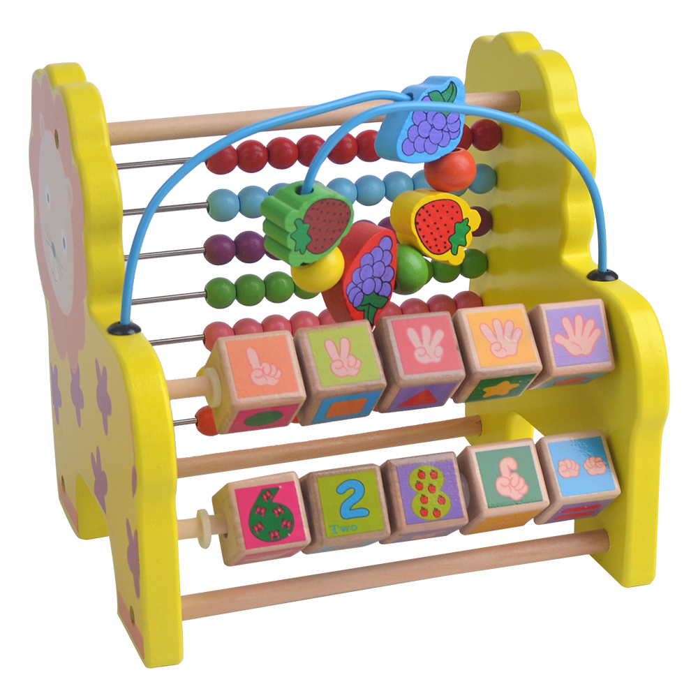Toys For Kids 5 7 : Kids wooden toys child abacus counting beads maths