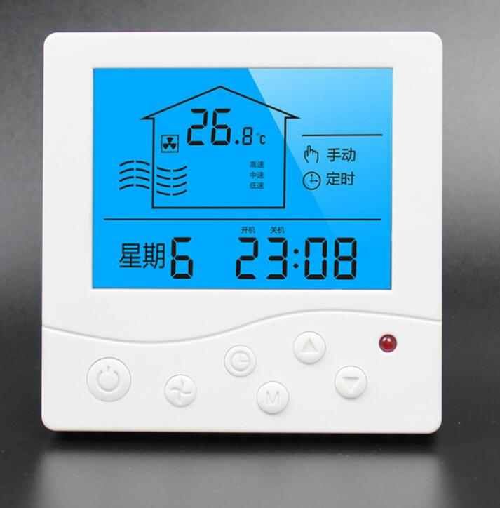 Household And Commercial Type 86 Liquid Crystal Panel Three-speed Switch Fresh Air Ventilator System Controller