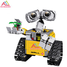 цены на sermoido Idea Robot WALL E 16003 Building Set Kits Toys Educational Bricks Blocks Bringuedos 21303 for Children DIY Gift B97  в интернет-магазинах