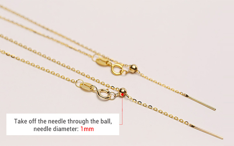 Sinya 18k Classical AU750 Gold Universal Chain 0.8gram Pure Gold Adjustable Chain DIY necklace accessrioes best Gift For Women (5)